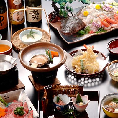 駿河湾の豊かな幸と新鮮な旬な食材を使った伊豆長岡ならではの料理をお楽しみください